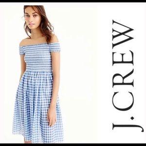NWT J. Crew Gingham Dress